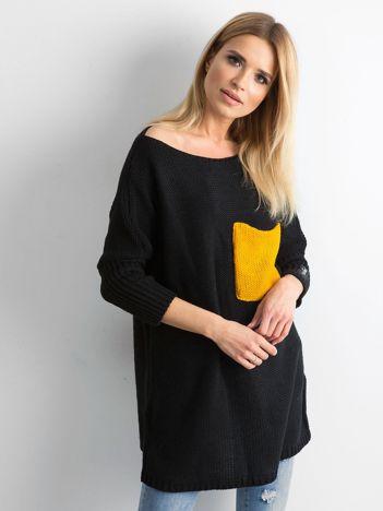 MAGPIE Czarny damski sweter oversize