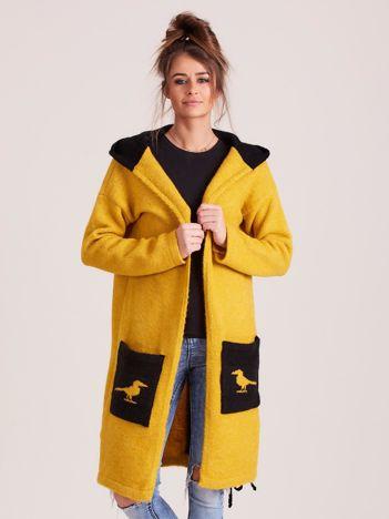 MAGPIE Musztardowy dzianinowy sweter