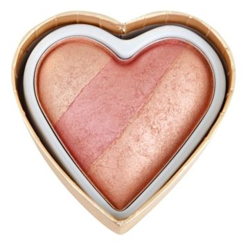 MAKEUP REVOLUTION Wypiekany róż Triple Baked Blusher Blushing Hearts Peachy Keen Heart 10g
