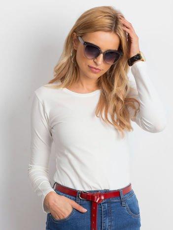 MANINA Okulary przeciwsłoneczne damskie szare z brokatem szkło szaro-fioletowe dymione