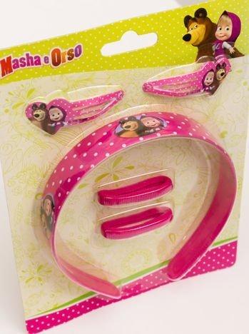 MASZA I NIEDŹWIEDŹ 5-pak prezentowy : szeroka opaska, 2 spinki i 2 gumki frotki