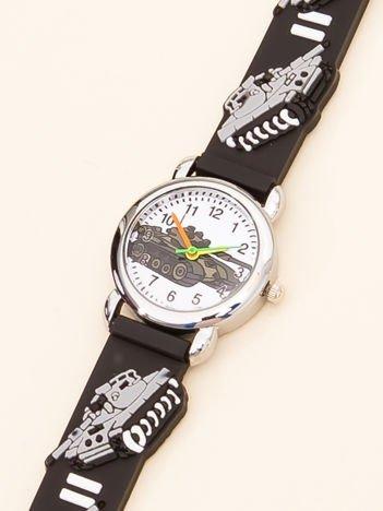 MILITARY Czarny Dziecięcy Zegarek Czołgi