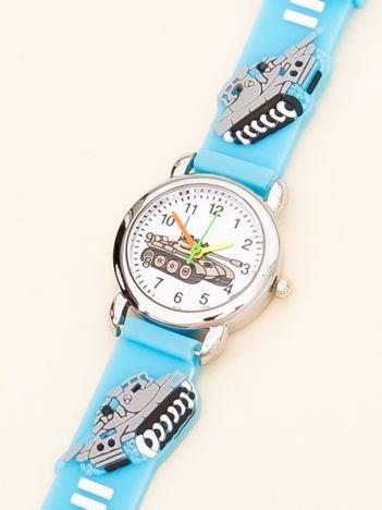 MILITARY Niebieski Dziecięcy Zegarek Czołgi