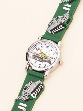 MILITARY Zielony Dziecięcy Zegarek Czołgi