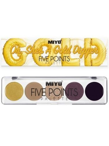 MIYO Paleta 5 cieni FIVE POINTS PALETTE Color Box Edition no.24 6,5 g