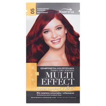 MULTI EFFECT color Keratin complex Szamponetka koloryzująca Porzeczkowa czerwień /05/