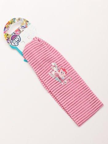 MY LITTLE PONY Opaska do włosów z aplikacją Różowa w błyszczące paski
