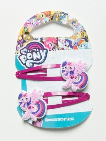 MY LITTLE PONY Zestaw 2 szt. ciemnoróżowych spinek do włosów dla dziewczynki