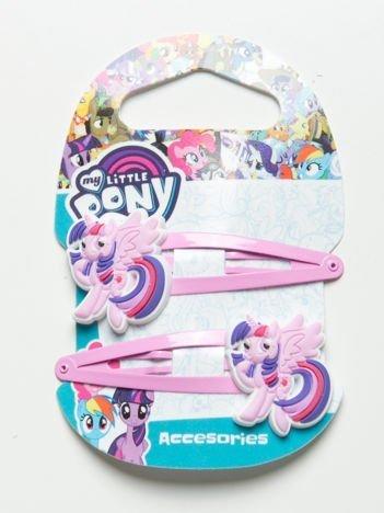MY LITTLE PONY Zestaw 2 szt. jasnoróżowych spinek do włosów dla dziewczynki
