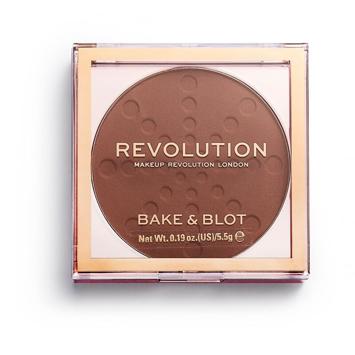 "Makeup Revolution Bake & Blot Puder prasowany Deep Dark 5.5g"""