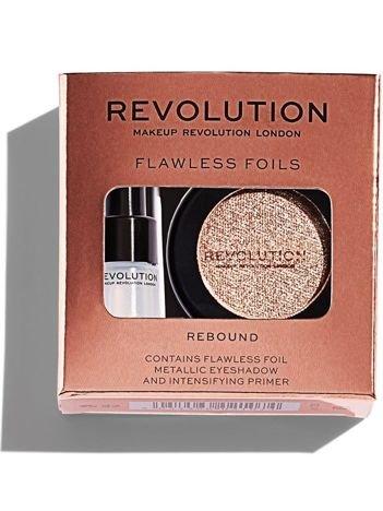 Makeup Revolution Flawless Foils Cień do powiek metaliczny + baza Rebound