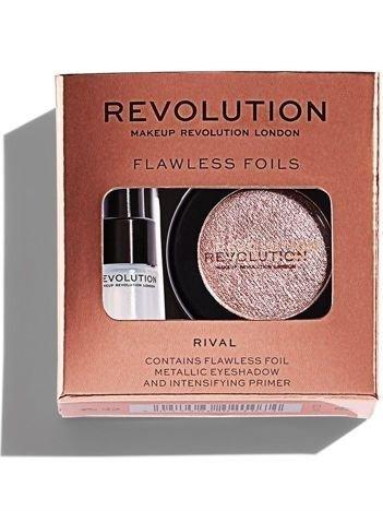 Makeup Revolution Flawless Foils Cień do powiek metaliczny + baza Rival