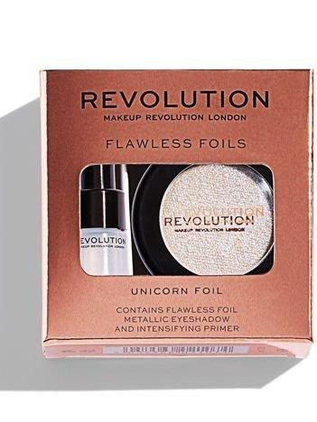 Makeup Revolution Flawless Foils Cień do powiek metaliczny + baza Unicorn Foil