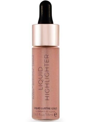 Makeup Revolution Liquid Highlighter Rozświetlacz w płynie Liquid Lustre Gold 18 ml