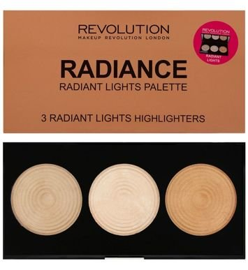 Makeup Revolution Radiance Highlighter Palette Paleta 3 rozświetlaczy 15 g