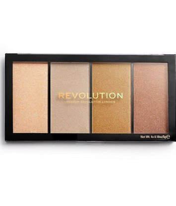 Makeup Revolution Re-Loaded Paleta rozświetlaczy Lustre Lights Heathwave 20 g