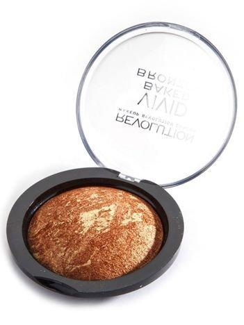 Makeup Revolution Vivid Baked Bronzer Puder brązujący wypiekany Rock 10g