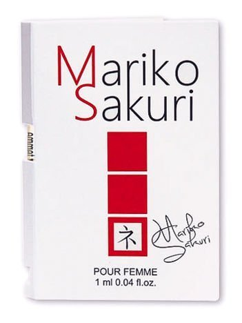 Mariko Sakuri Piękne perfumy z FEROMONAMI o delikatnym, kobiecym i podniecającym zapachu. Intensywnie działają na mężczyzn 1ml