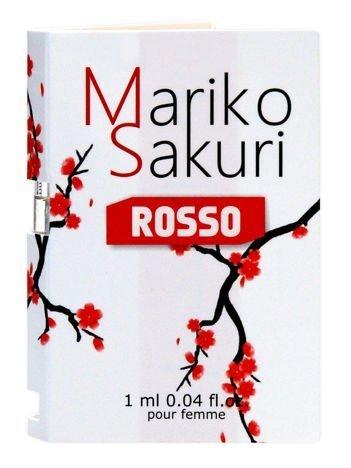 Mariko Sakuri ROSSO Piękne perfumy z FEROMONAMI o delikatnym, kobiecym i podniecającym zapachu. Intensywnie działają na mężczyzn 1ml