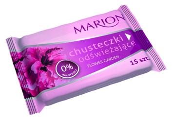 Marion Chusteczki odświeżające Flower Garden o zapachu kwiatowym 15 szt.