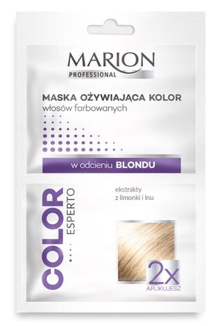 Marion Color Esperto MASKA OŻYWIAJĄCA KOLOR WŁOSÓW FARBOWANYCH w odcieniu blondu 2x20ml