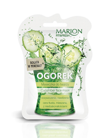 "Marion Fit & Fresh Maseczka do twarzy Ogórek  7.5ml"""
