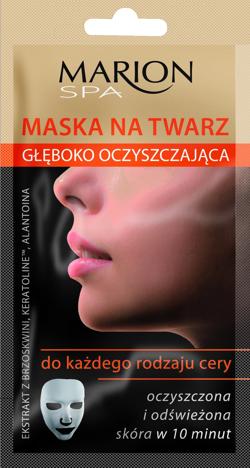 Marion Spa Maska na twarz głęboko oczyszczajaca na tkaninie 15ml