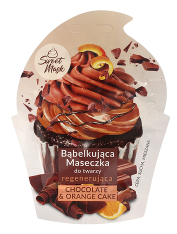 """Marion Sweet Mask Bąbelkująca Maseczka do twarzy regenerująca Chocolate&Orange Cake 6g"""""""