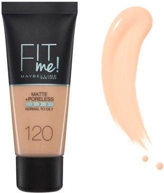 Maybelline matujący podkład FIT ME! Matte&Poreless 120 Classic Ivory 30 ml