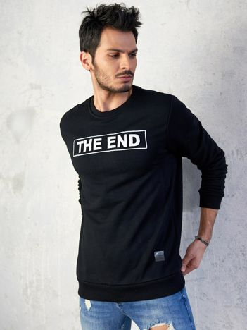 Męska bluza z napisem czarna