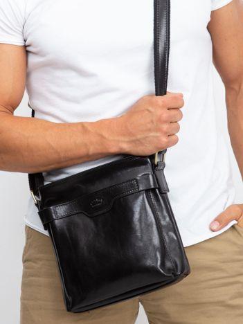 Męska torba skórzana czarna