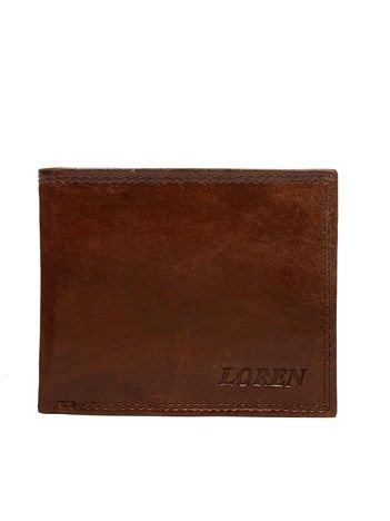 Męski brązowy portfel ze skóry naturalnej