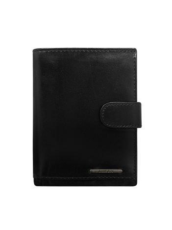 Męski czarny portfel skórzany