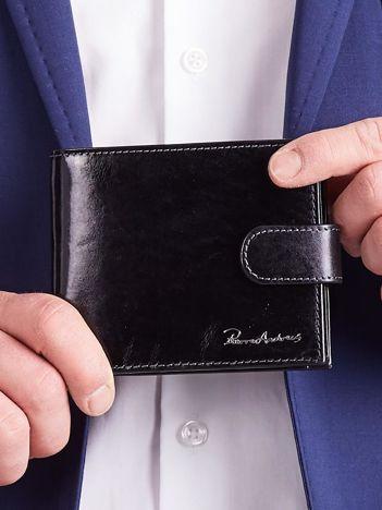 Męski portfel ze skóry czarny