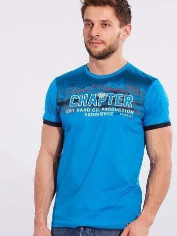 Męski t-shirt bawełniany jasnoniebieski