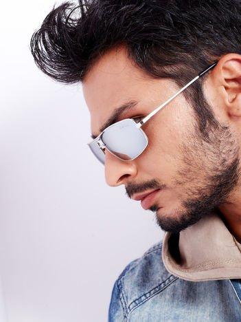 Męskie Okulary Przeciwsłoneczne PILOTKI Lustrzanki Z Systemem Flex Na Zausznikach