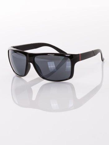 Męskie czarne okulary przeciwsłoneczne w SPORTOWYM SYTLU