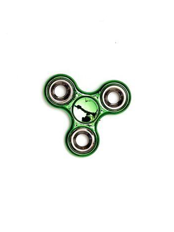 Metalowy błyszczący hand fidget spinner zielony