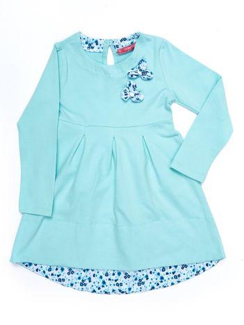Miętowa bawełniana sukienka dziecięca
