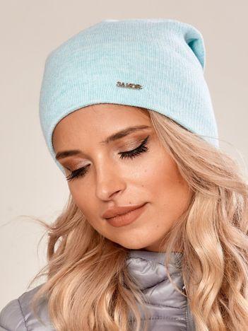 Miętowa czapka beanie