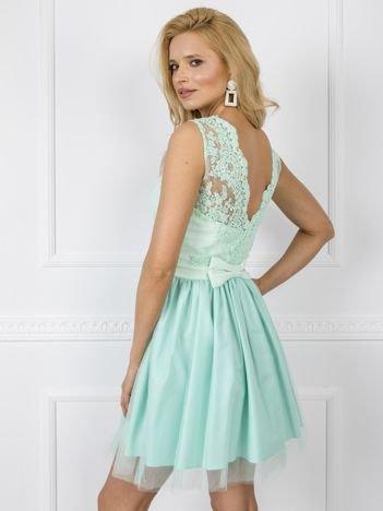 Miętowa sukienka Britney