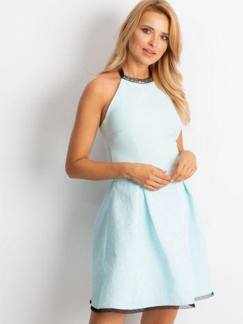 Miętowa sukienka Kim