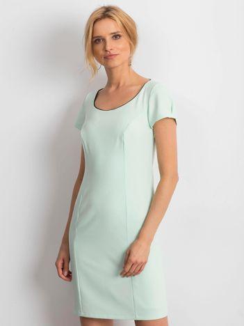 Miętowa sukienka Majesty