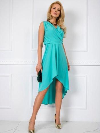 Miętowa sukienka Tess