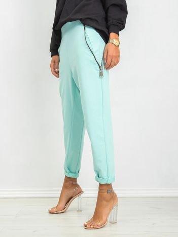 Miętowe spodnie Lights