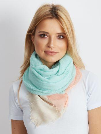 Miętowo-brzoskwiniowa chusta