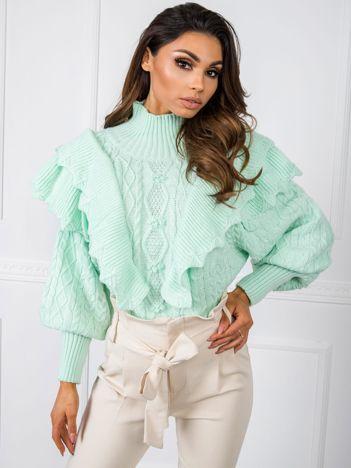 Miętowy sweter Rosie