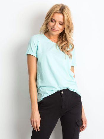 Miętowy t-shirt Transformative