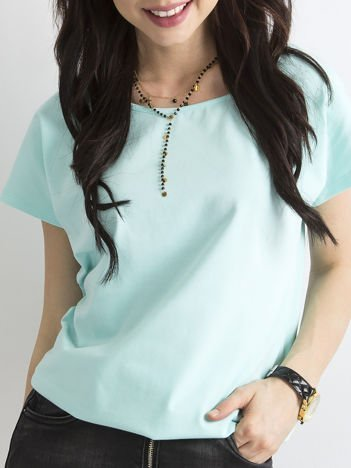 Miętowy t-shirt basic