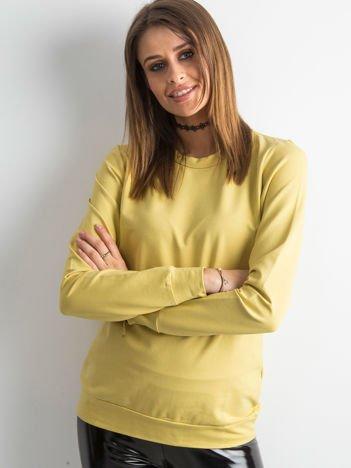 Miodowa bluza damska basic